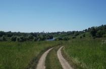Луг, дорога, Белёв и Ока